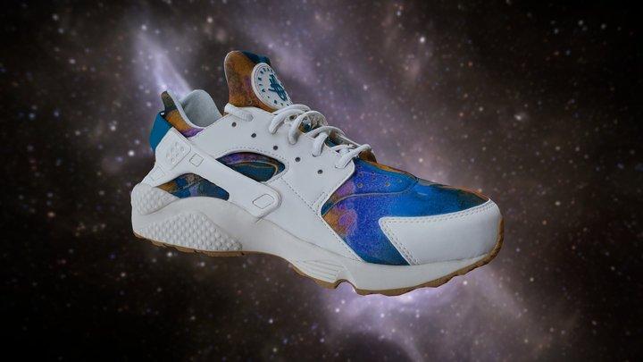 Nike Air Max Tie Dye Sneakers Shoes low poly 3D Model