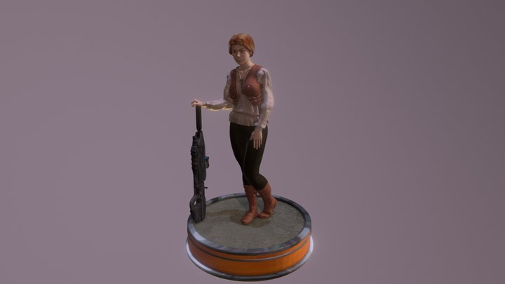 Woman With MA5D 3D Model