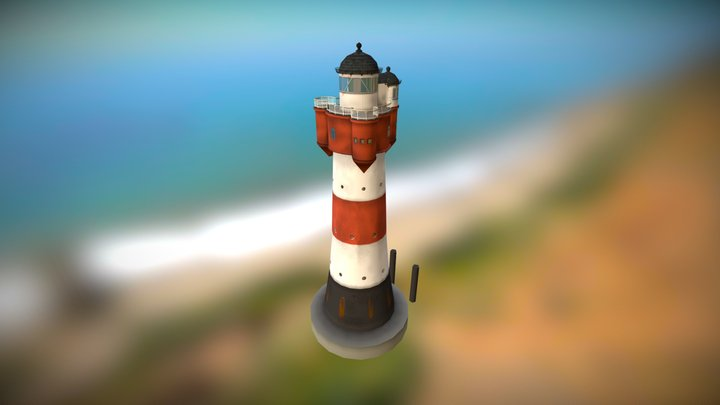 Roter Sand Lighthouse [Cities: Skylines Mod] 3D Model