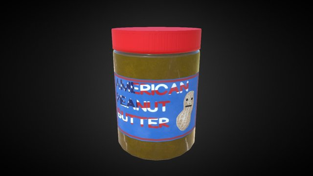 American Peanut Butter 3D Model