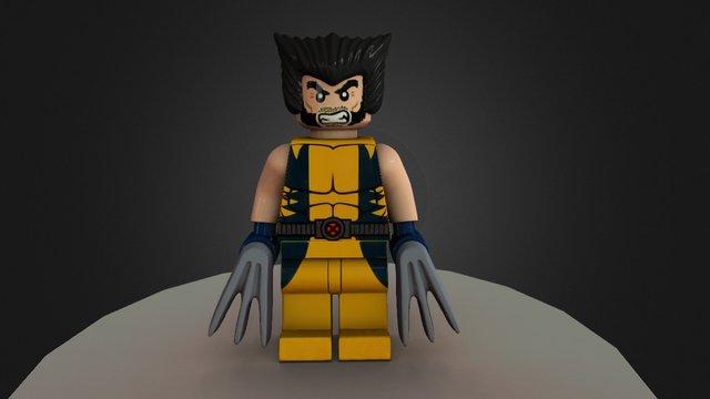 Lego Wolverine 3D Model