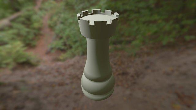 Model Benteng Catur 3D Model