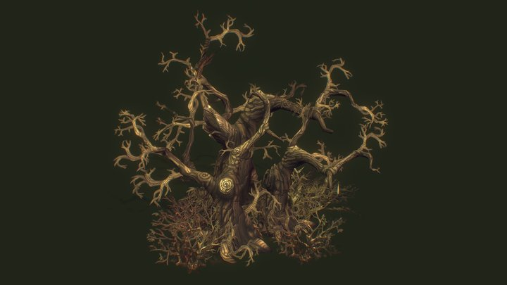 Old Creepy Trees - Hand Painted Series 3D Model