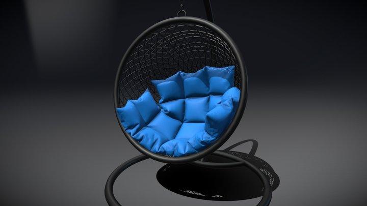 Basket Swing Chair 3D Model