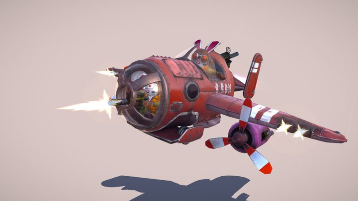 """Wyld Rabbits"" fighter squadron 3D Model"