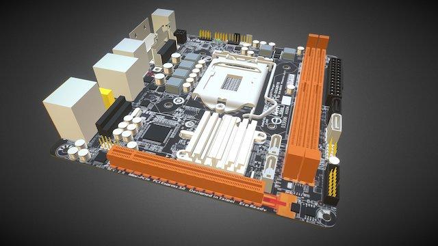 Gigabyte GA-B85N Phoenix v0.2 3D Model