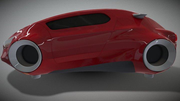Red_Hover 3D Model