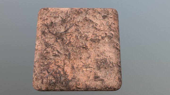 Tiled PBR material - Muddy ground 3D Model