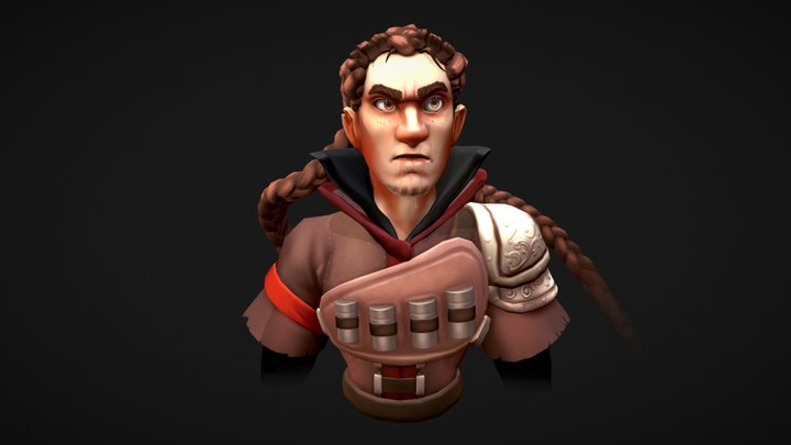 Hunter 3d bust 3D Model