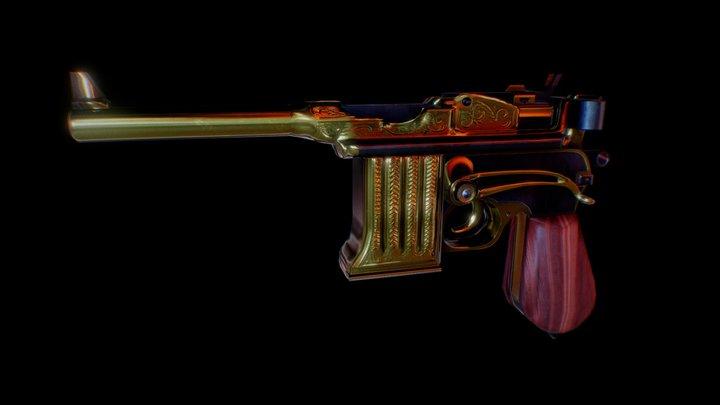 Bioshock Infinite Pistol 3D Model