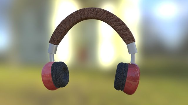 PBR Headphones 3D Model