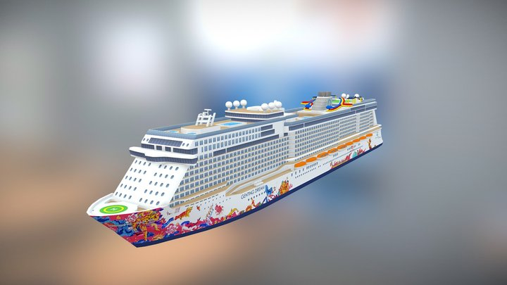 Genting Dream cruise ship 3D Model