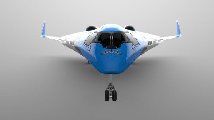 Airbus Flying-V - KLM 3D Model