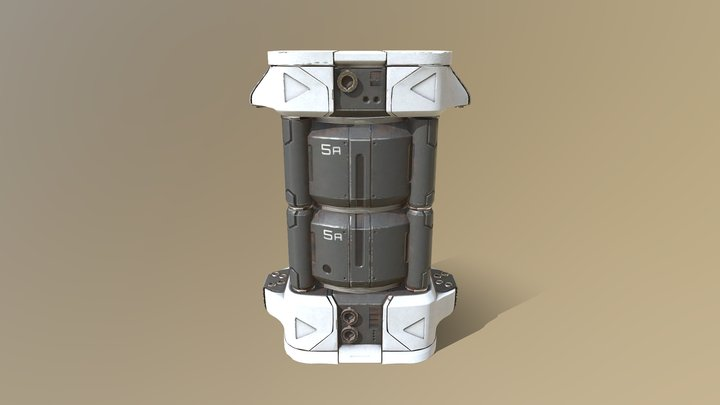 Splash Damage Art Test 3D Model