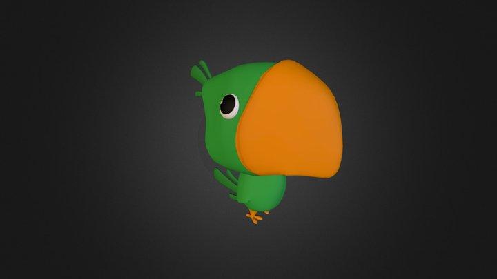 Cartoon Parrot 3D Model