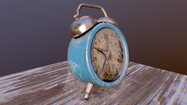 Old Twin Bell Alarm Clock 3D Model