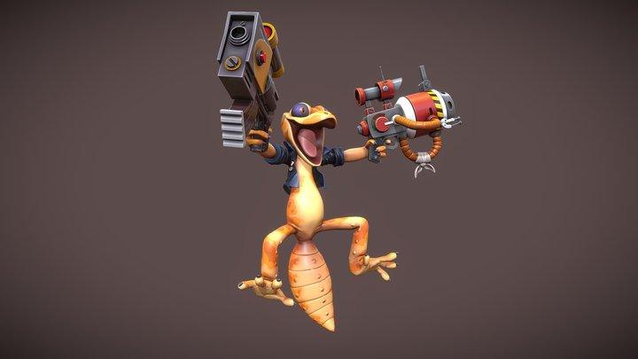 Gecko Gunner 3D Model