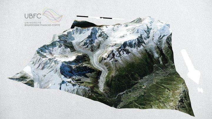 Glaciers du Mont-Blanc 3D Model