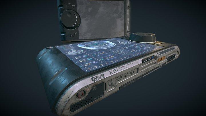 Sci Fi Control Screen 3D Model