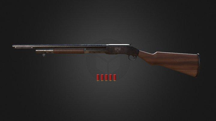 PUBG: S1897 Shotgun 3D Model