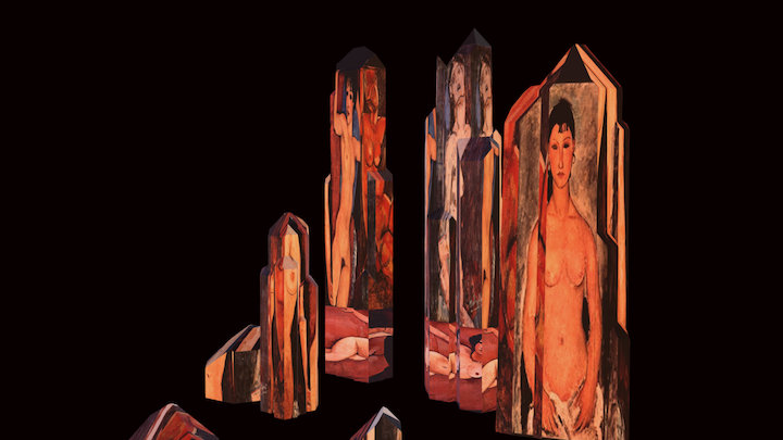 Rare Modigliani Crystals 3D Model