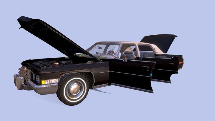 Cadillac Fleetwood 1972 3D Model