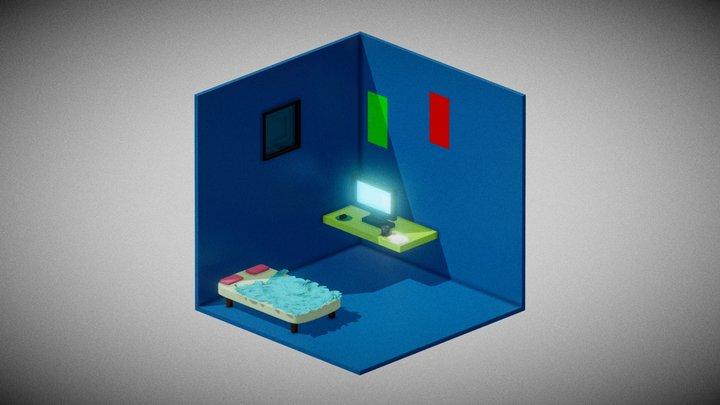 Minha Isometric Room 3D Model