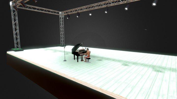 ---FREDDIE TOCANDO EL PIANO 3D Model