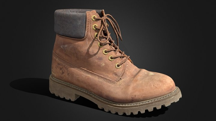 Lumberjack Boot (used) 3D Model