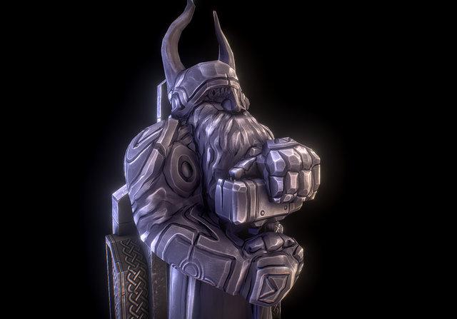 Dwarf Statue 3D Model