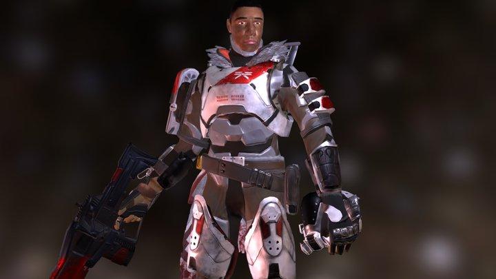 Destiny Titan Character (Fan Art) 3D Model
