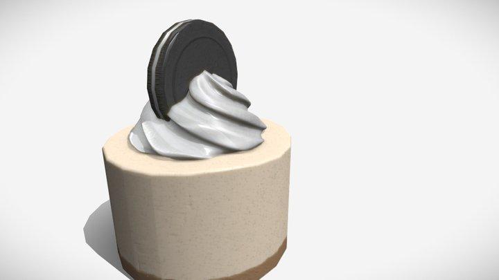 Cookies & Cream Ice Cream Cake 3D Model