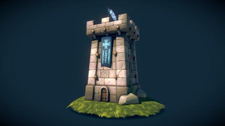 FREE - Fantasy Guard Tower 3D Model
