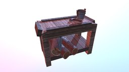 Crafting Bench 3D Model