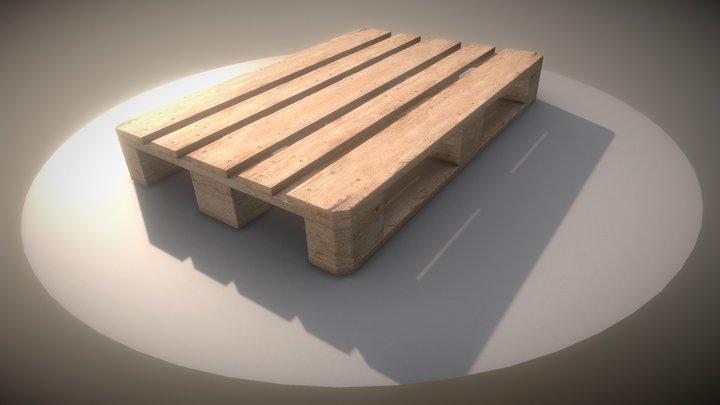 EUR Wood Pallet | High-Poly Version 3D Model