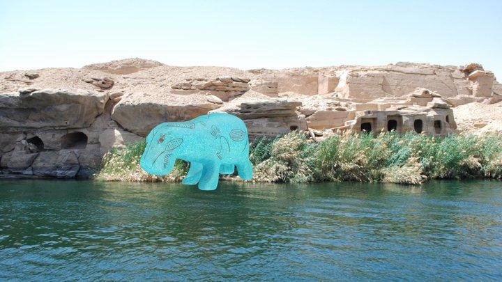 Moonwalking Hippo (Kaitlyn) 3D Model