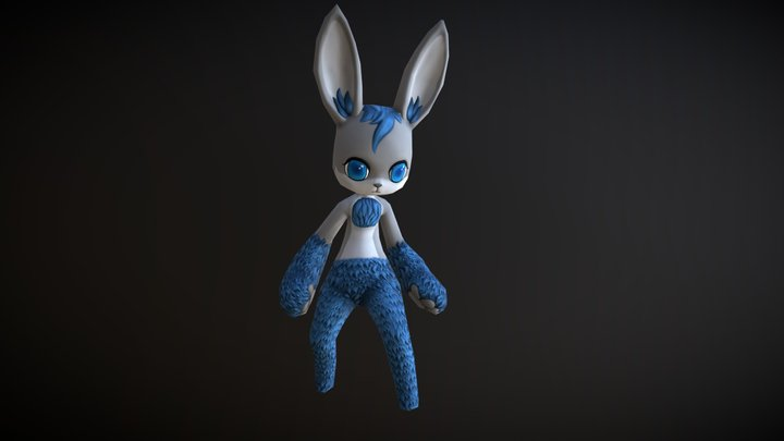 LowPoly Bunny [ Animation Ready ] 3D Model