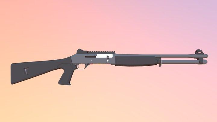 Low Poly Benelli M4 Super 90 3D Model