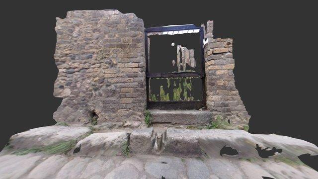 Drain on vicolo dei 12 Dei, Pompeii 3D Model