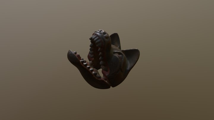 netsuke (fox mask) 3D Model