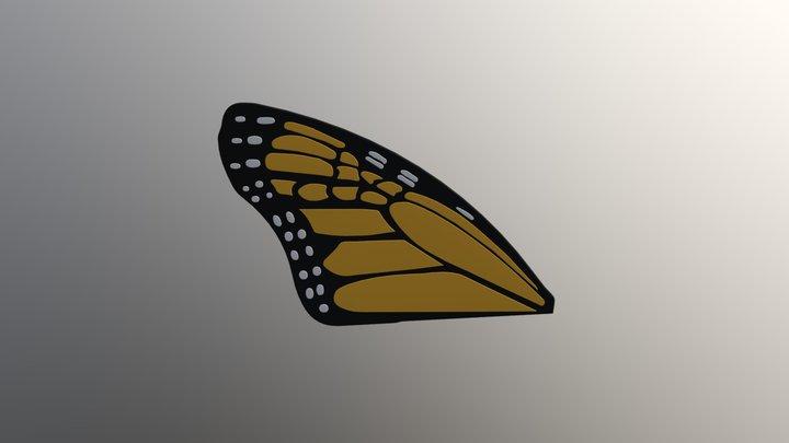 Butterfly wing upper left 3D Model