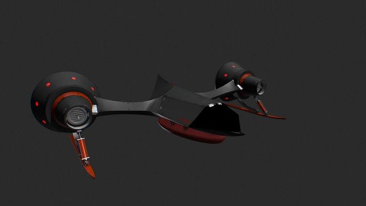 Hovercraft Racer: CC-1805 3D Model