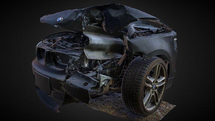 "Totaled BMW ""Guardrail Impact"" 3D Scan (DRAFT) 3D Model"