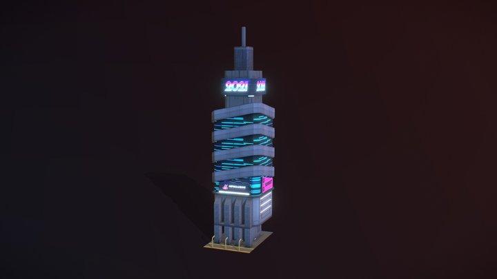 Cyberpunk building test 3D Model