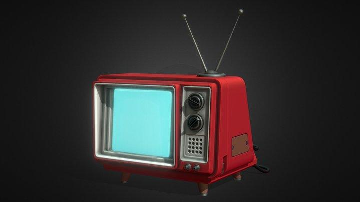 Cartoon TV 3D Model