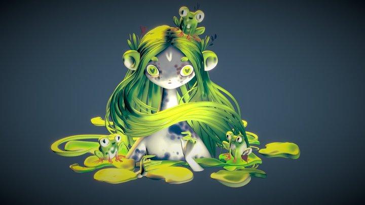 Frog Princess 3D Model