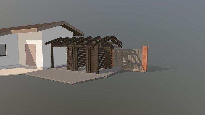 Дровник 3D Model