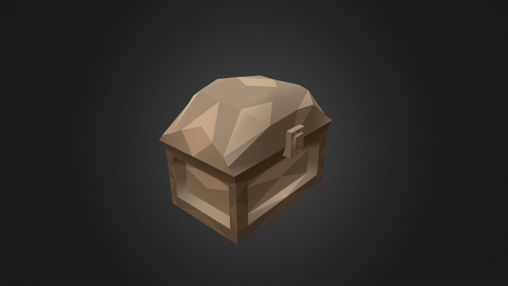Chest with improvised animation 3D Model