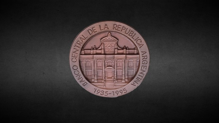 Moneda de Prueba - BCRA 3D Model