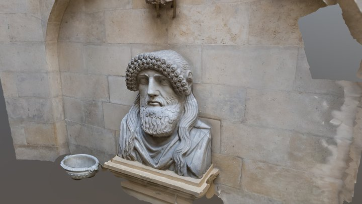 Greek head Castle Howard 3D Model